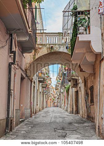 Alley In The Ancient Town Ortona, Abruzzo, Italy