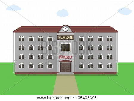 School building illustration