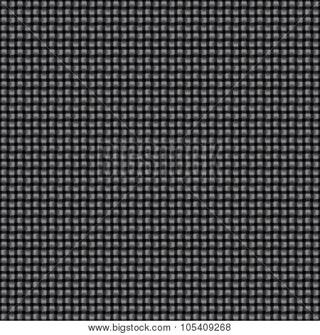 Seamless Black Interweaving Texture.