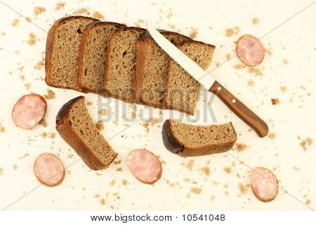 Rye Bread And Sausage