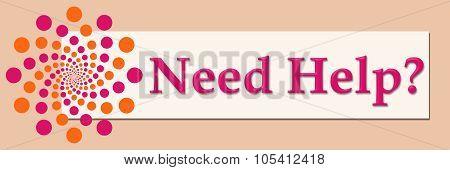 Need Help Pink Orange White Horizontal
