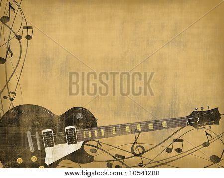 guitar on vintage background