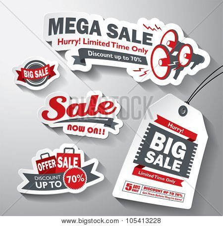 Set of sale design elements