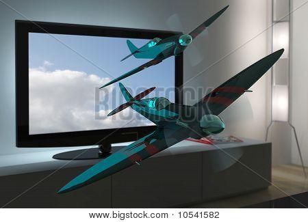 3D tv spitfire