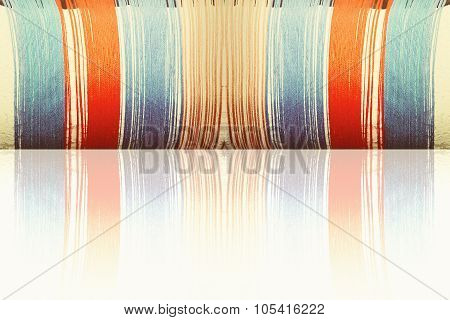 Multicolored Threads With Reflection As Abstract Background.