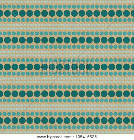 Green And Beige Polka Dot  Abstract Design Tile Pattern Repeat Background