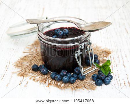 Blueberry Jam And Fresh Blackberries