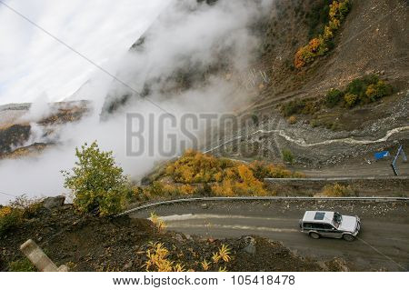 Landscape of China National Highway of Sichuan