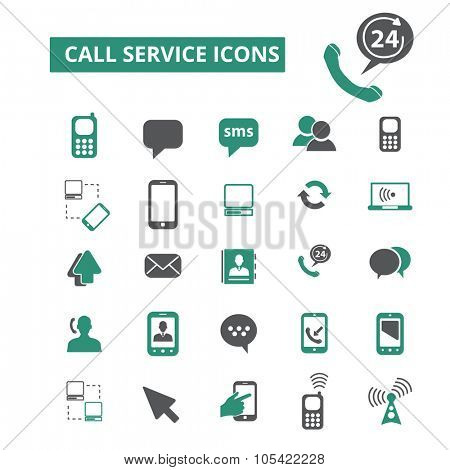 call service, support icons
