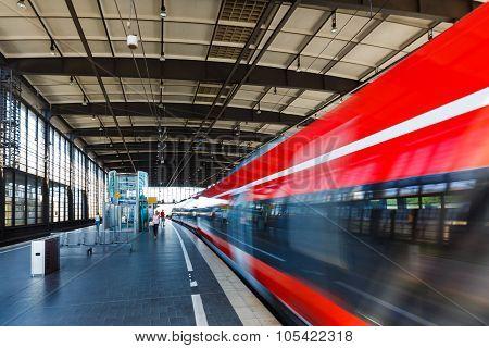 Railway Station In Berlin