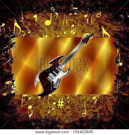Dark Hard Rock Music Background