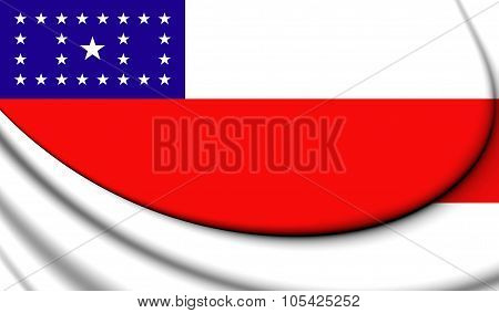 Flag Of Amazonas State, Brazil.