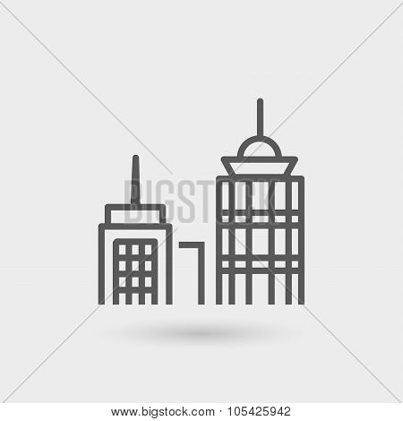 Business Center Thin Line Icon