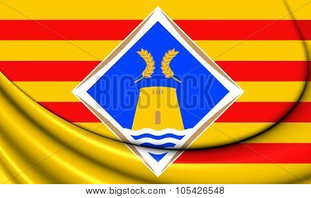 Flag Of Formentera, Spain.