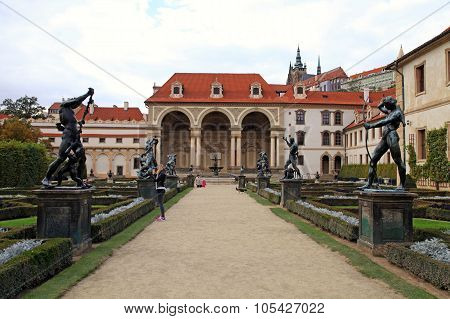 Waldstein Garden Near Czech Senate, Prague, Czech Republic.