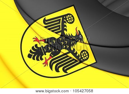 Flag Of Goslar City (lower Saxony), Germany.
