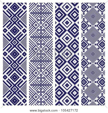 ROYAL BLUE GEOMETRIC PATTERN BACKGROUND. Editable and repeatable vector file. For fashion, prints,textile, branding projects, craft, website design and more...