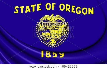 Flag Of Oregon, Usa.