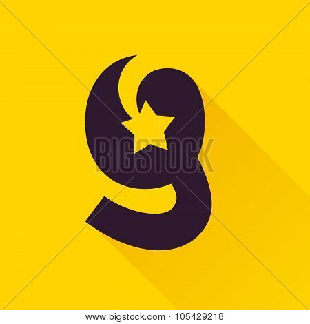 G Letter With Star.