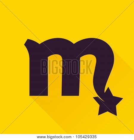 M Letter With Star.
