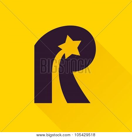 R Letter With Star.