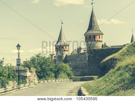 medieval castle fortress in Kamenetz-Podolsk. Ukraine