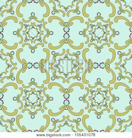 Ornamental Seamless Pattern. Vintage Template. Filigree Texture.