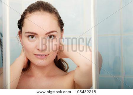 Woman Taking Shower.