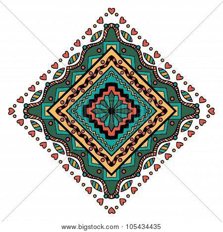 Mandala Square Ornament