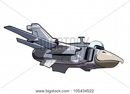 Cartoon Jetbird 3