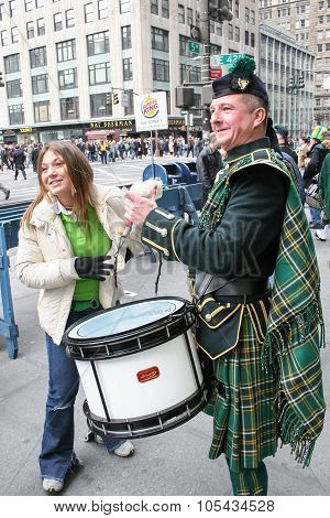 Saint Patricks Day Parade Drums