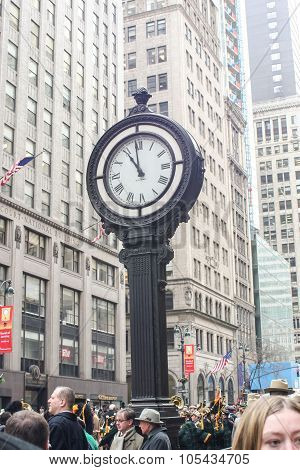 Street Clock In New York City