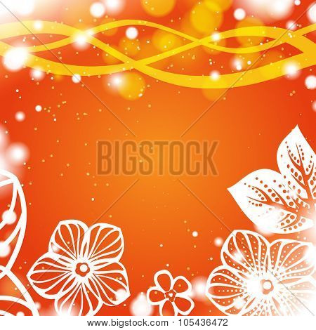 Abstract flower orange background