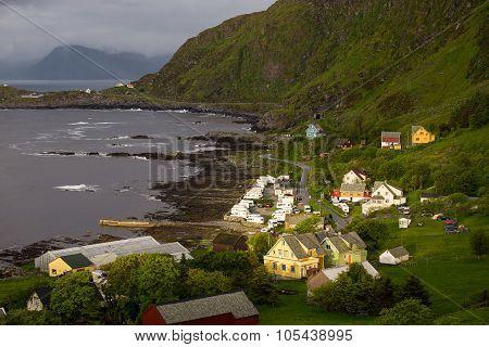 Houses On A Sea Coast