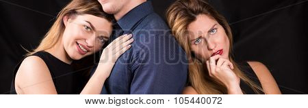 Women Sharing With Man