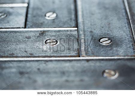 Old Metallic Parquet Closeup