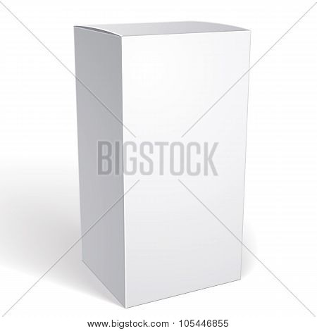Realistic White Package Box For Products, Put Your Design Over The Pack In Multiply Mode, Isolated O