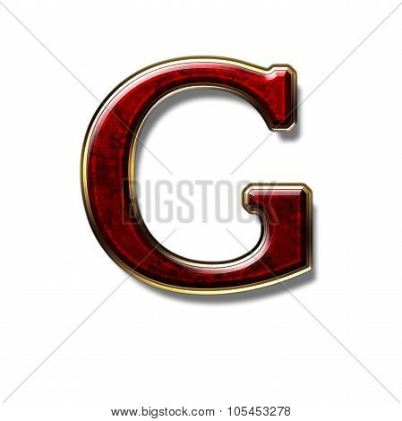 Letter G - Precious Stone in Red