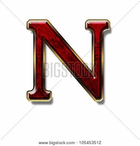 Letter N - Precious Stone Is Red