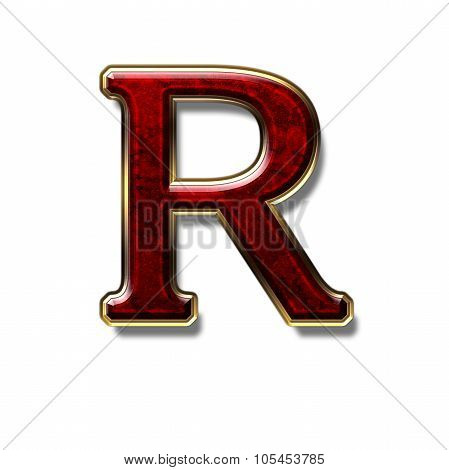 Letter R - Precious Stone Is Red