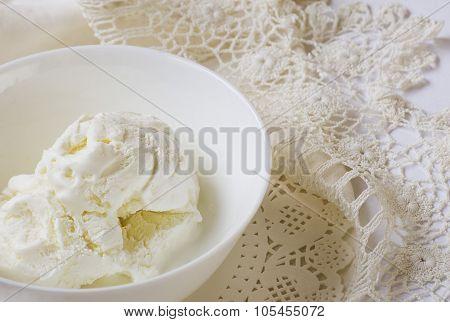 ice cream, sundae