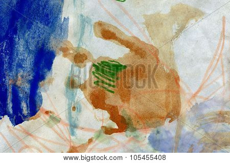 Abstract Hand Painted Arts Background