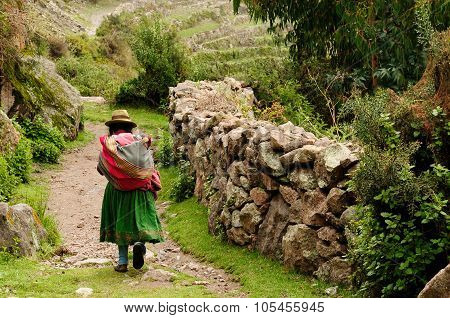 Peru, Old Incan Road In The Canyon Cotahuasi