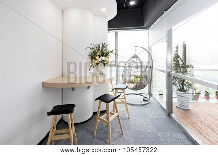 interior of moder office