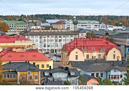 Porvoo. Finland. Top view of the town