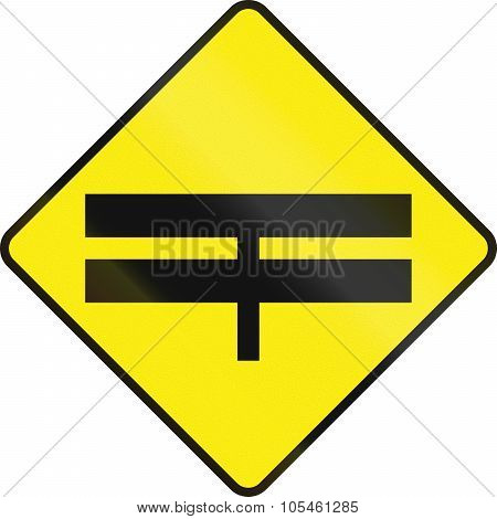 Divided Highway Intersection Ahead In Ireland