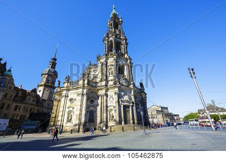 Cathedral Of The Holy Trinity In Dresden, Germany