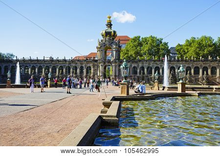 Crown Gate Of Zwinger, Dresden