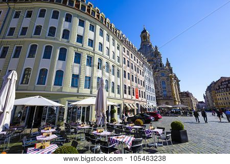 General View Of The Dresden's New Market Square