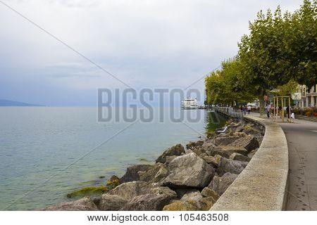 Modern Vessel Named Lausanne, Vevey